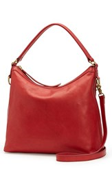 Frye Claude Leather Hobo Red