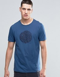 Pretty Green T Shirt With Applique Logo In Slim Fit Navy Navy