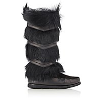 Saint Laurent Women's Aya10 Moccasin Knee Boots Black