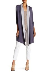 Cullen Double Face Shawl Cardigan Gray