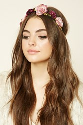 Forever 21 Floral Headwrap Pink Mauve