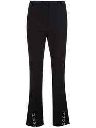 Thierry Mugler Pierced Flared Trousers Black