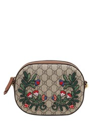 Gucci Flower Patches Gg Supreme Camera Bag