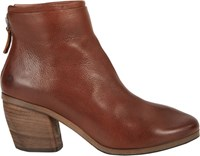 Marsell Layered Back Zip Ankle Boots Brown