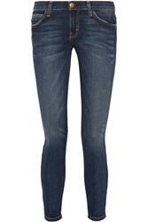 Current Elliott The Stiletto Mid Rise Skinny Jeans Dark Denim