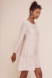 Anthropologie Mirana Lace Swing Dress Oyster