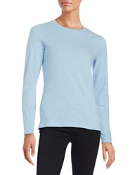 Lord And Taylor Petite Compact Tee Blue Shell Heather