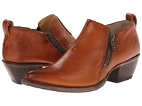 Frye Sacha Moto Shootie Cognac Smooth Vintage Leather Women's Pull On Boots Brown