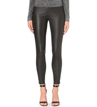 Reiss Carrie Leather Leggings Black