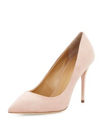 Giuseppe Zanotti Suede Pointed Toe Pump Shell White