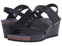Aetrex Lexi Wedge Sandal Black Women's Wedge Shoes