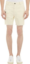 Band Of Outsiders Corduroy Cutoff Shorts White