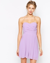 Tfnc Prom Dress In Pleated Chiffon Lavender