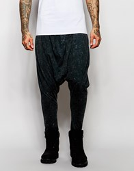 Asos Extreme Drop Crotch Joggers In Lightweight Fabric In Black Acid Wash Washed Black