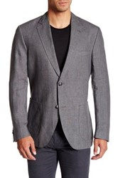 Kroon Bono 2 Two Button Notch Lapel Linen Sport Coat Blue