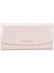 Burberry Flap Glittery Wallet Pink And Purple