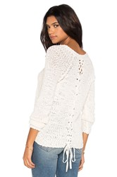Michael Stars Nubby Boucle Pullover Ivory