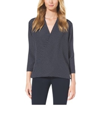 Michael Kors Polka Dot Blouse Navy