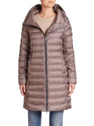 Max Mara Eros Quilted Down Jacket Medium Grey
