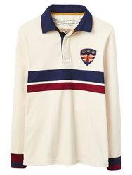Joules Stockton Rugby Shirt Antique Creme