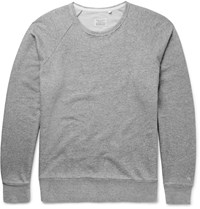 Rag And Bone Loopback Cotton Jersey Sweatshirt Gray