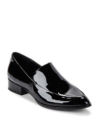 424 Fifth Verona Leather And Suede Loafers Black