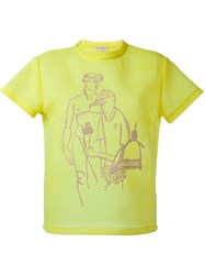 Emilio Pucci Embroidered T Shirt Yellow And Orange