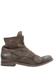 Officine Creative Suede Lace Up Boots Dove