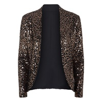 Hotsquash Sequin Jacket With Thermal Lining Gold