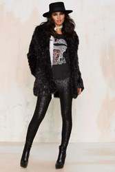 Nasty Gal Amuse Society In A Manner Of Sequin Leggings Black