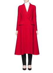 Lanvin Wool Flannel Flare Coat Red