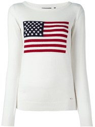 Woolrich Usa Flag Pullover Nude And Neutrals