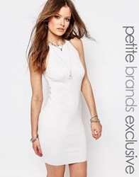 Noisy May Tall Noisy May Petite Knitted Halter Dress With Zip Detail White