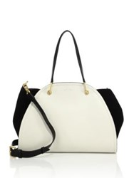 Maiyet Peyton Small Leather And Suede Tote Ivory Black