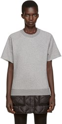 Maison Martin Margiela Grey Short Sleeve Sweatshirt