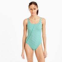 J.Crew Long Torso Scoopback One Piece Swimsuit In Classic Stripe