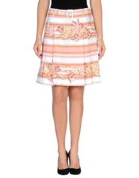 Salvatore Ferragamo Knee Length Skirts Salmon Pink