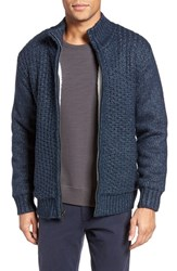 Schott Nyc Men's Zip Front Sherpa Sweater Jacket