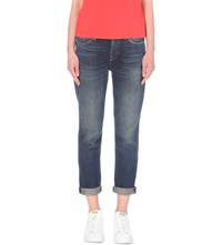 7 For All Mankind Josefina Boyfriend Mid Rise Jeans Jackson Blue