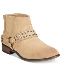 Roxy Weaver Western Ankle Booties Women's Shoes Tan