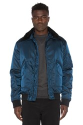 Isaora G 1 Aviator Jacket With Sheep Shearling Navy