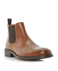 Roland Cartier Casey Slip On Casual Chelsea Boots Tan