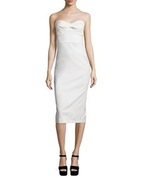 Veronica Beard Edelia Strapless Bustier Dress White Women's