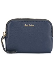 Paul Smith Logo Plaque Pouch Blue