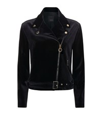 Pinko Ape Chiodo Velvet Jacket Female Black