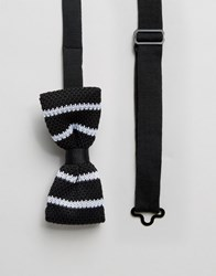 Selected Knitted Bow Tie Black
