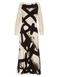 Max Mara Recco Dress Black White