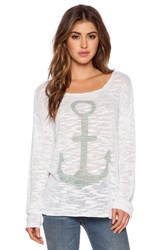 525 America Anchor Boatneck Top White