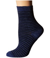 Richer Poorer Skimmer Ankle Wool Navy Brown Women's Crew Cut Socks Shoes