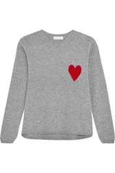 Chinti And Parker Intarsia Wool Cashmere Blend Sweater Gray